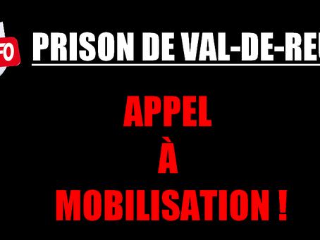 Prison de Val-de-Reuil : Appel à mobilisation !
