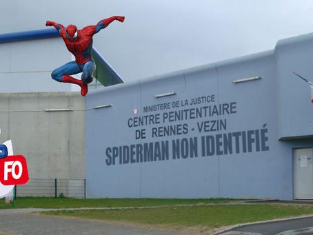 Prison de Rennes-Vezin : Spiderman non identifié