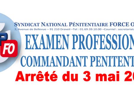 Examen Professionnel Commandant Pénitentiaire