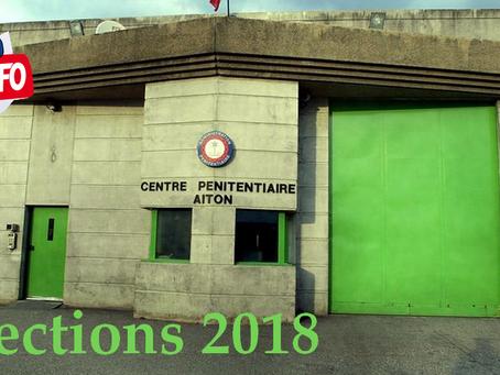Prison d'Aiton : Élections 2018