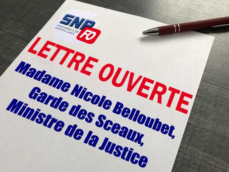 Lettre ouverte à Madame Nicole Belloubet, Garde des Sceaux, Ministre de la justice