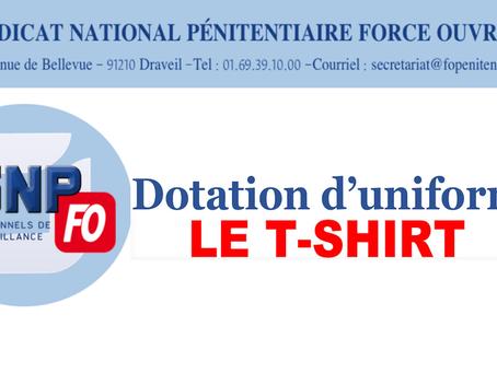 Dotation d'uniforme : Le t-shirt