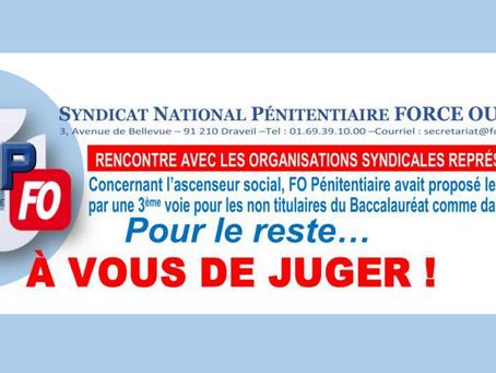 Rencontre avec les organisations syndicales représentatives : Pour le reste.... À vous de juger !