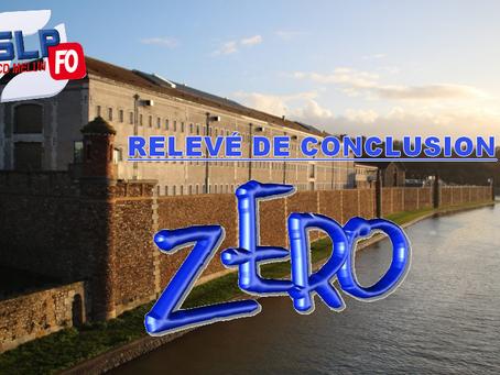 Prison de Melun : Relevée de conclusion zéro