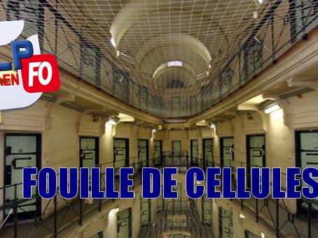 Prison de Caen : Fouille de Cellules