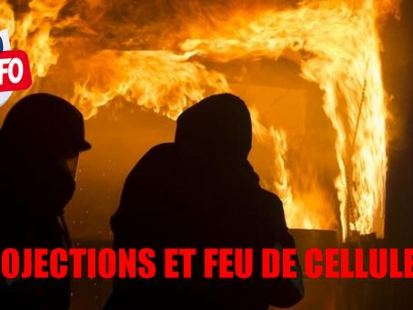Prison de Mulhouse : Projections et feu de cellule !!!