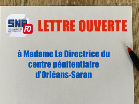 Prison d'Orléans-Saran : Lettre ouverte à Madame La Directrice du centre pénitentiaire