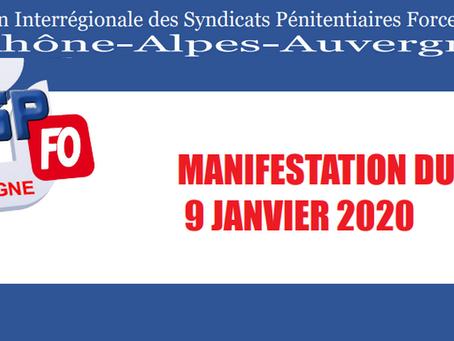 DI de Lyon : Manifestation du 9 Janvier 2020