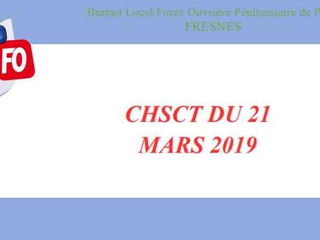 Prison de Fresnes : CHSCT du 21 Mars 2019