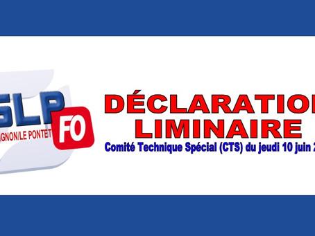 Prison d'Avignon Le Pontet : Déclaration liminaire Comité Technique Spécial du jeudi 10 juin 2021