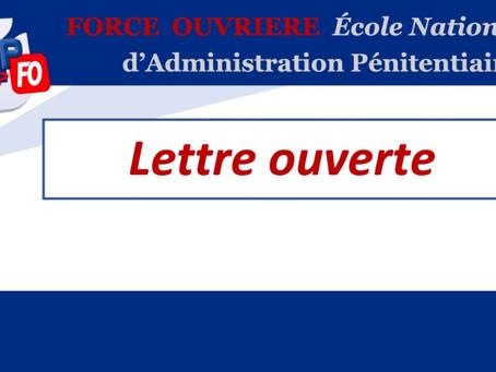 ÉNAP : Lettre ouverte à Monsieur le Ministre, Garde des Sceaux