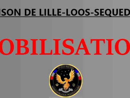 Prison de Lille-Loos-Sequedin : Mobilisation