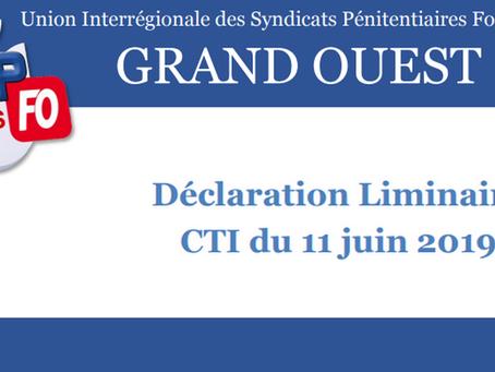 D.I de Rennes : Déclaration liminaire CTI du 11 Juin 2019