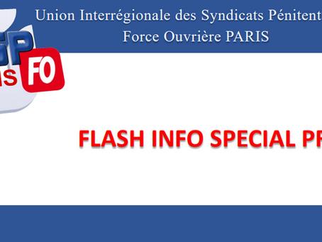 Flash-inFO de l'UISP Force Ouvrière de Paris : Spécial PREJ
