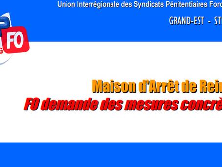 Prison de Reims : FO demande des mesures concrètes