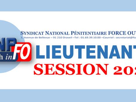 Lieutenants session 2020 : Nombre de postes offerts aux concours