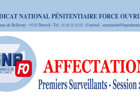 Affectation Premiers-Surveillants - Session 2021