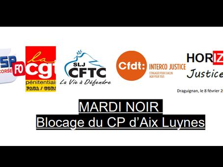 Mardi Noir : Blocage du CP d'Aix-Luynes