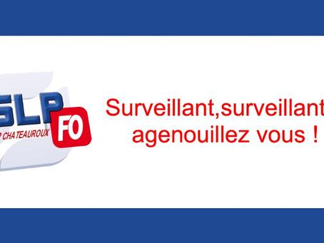 Prison de Châteauroux : Surveillant, Surveillante, agenouillez-vous !