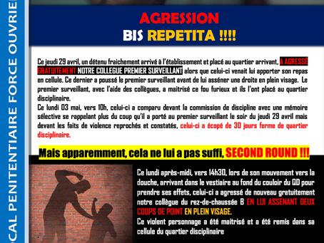 Prison de Béthune : Agression Bis Repetita !!!!