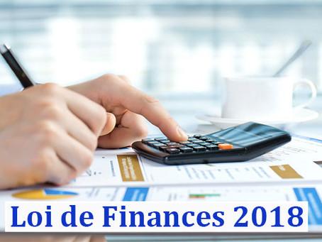 Plan de loi de finances 2018