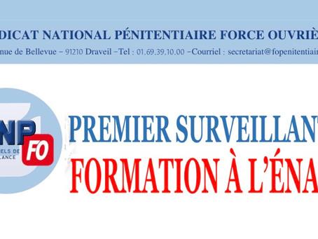 Premier Surveillant : Formation à l'ÉNAP