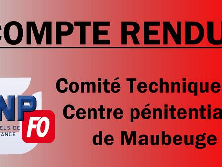 Prison de Maubeuge : Compte rendu du Comité Technique du 15 Octobre 2019
