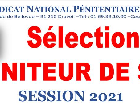 Sélection de moniteur de sport : Session 2021