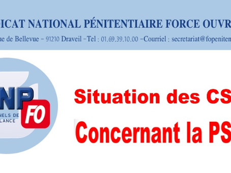Situation des CSP concernant la PSS : Réponse du DAP