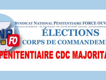Élections Corps de Commandement : FO Pénitentiaire CDC Majoritaire