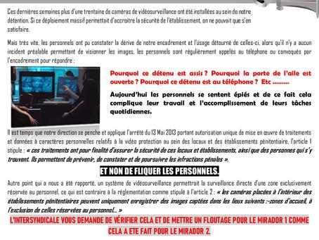 Prison de Maubeuge : Vidéosurveillance et non vidéoflicage