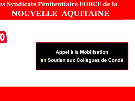 DI de Bordeaux-Nouvelle Aquitaine : Appel à la mobilisation en soutien aux collègues de Condé