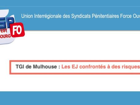 TGI de Mulhouse : Les EJ confrontés à des risques