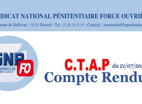 CTAP du 21/07/2020 : Compte Rendu