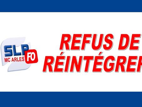 Prison d'Arles : Refus de réintégrer
