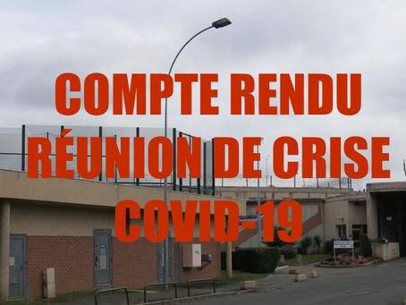 Prison d'Osny : Compte rendu réunion de crise COVID-19