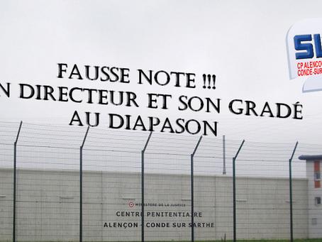 Prison d'Alençon Condé-sur-Sarthe : Fausse note !!! Un directeur et son gradé au diapason