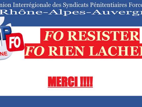 Mobilisation sur la DISP de Lyon : MERCI !!!
