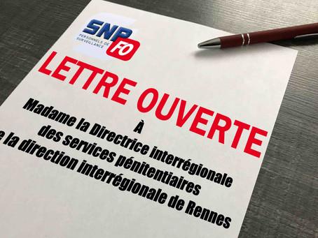 Prison de Rennes-Vezin : Lettre ouverte à Madame la Directrice interrégionale des services pénitenti