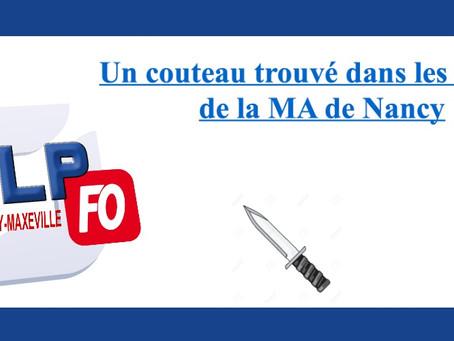 Prison de Nancy-Maxéville : Un couteau trouvé dans les abords de la MA