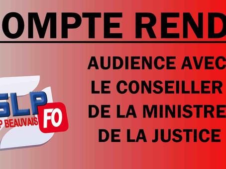 Prison de Beauvais : Compte rendu d'audience avec le conseiller de la ministre de la justice