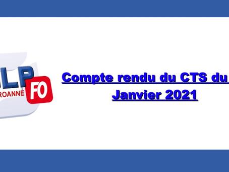 Prison de Roanne : Compte rendu du CTS du 19 janvier 2021
