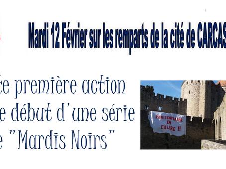 """DISP de Toulouse : Cette première action est le début d'une série de """"Mardis Noirs"""""""
