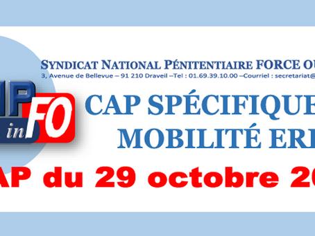 CAP spécifique de mobilité ÉRIS : CAP du 29 octobre 2018