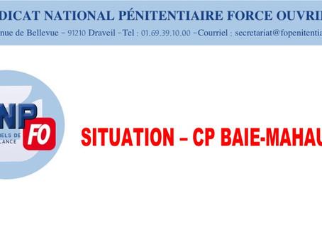 Situation - CP Baie-Mahault : Lettre ouverte au Directeur de l'Administration Pénitentiaire