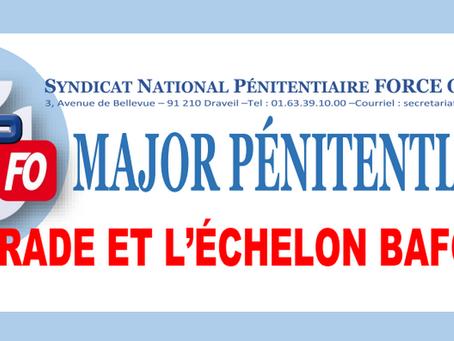 Major Pénitentiaire : Le grade et l'échelon bafoués