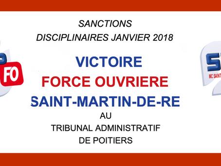 Prison de Saint-Martin-de-Ré : Sanctions disciplinaires Janvier 2018. Victoire au tribunal administr