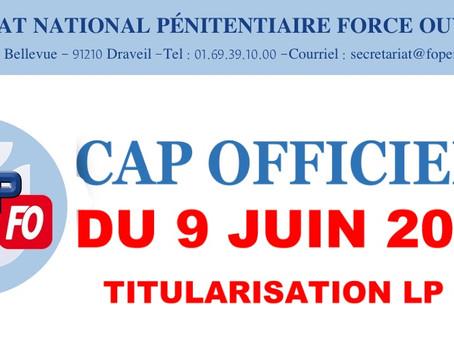 CAP Officiers du 9 juin 2021 : Titularisation LP 24