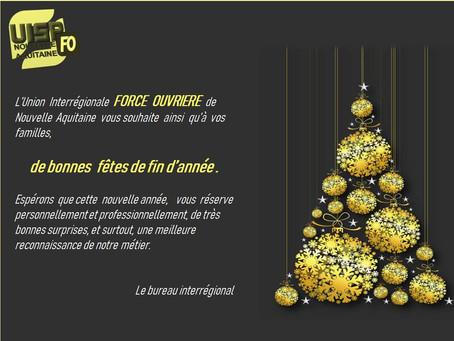 DISP de Bordeaux : Bonnes fêtes de fin d'année