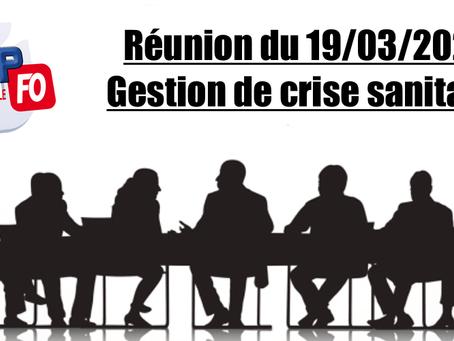 Prison de Nancy-Maxéville : Réunion du 19/03/2020 Gestion de crise sanitaire